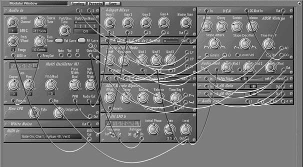 в модульном синтезаторе